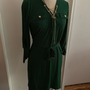 Michel Kors green dress
